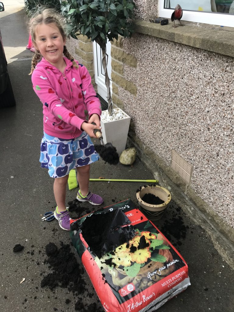 Robyn has been busy gardening.